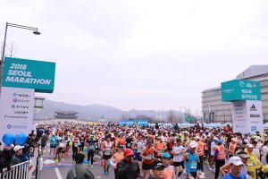 [ER포토]도심속 질주 서울국제마라톤