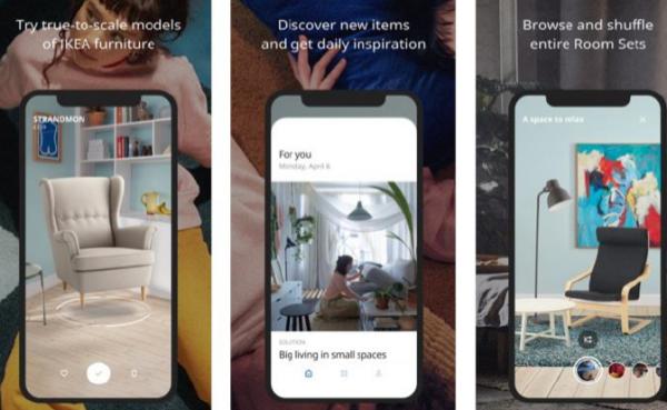 이케아 증강현실 앱. 출처=이케아